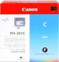 Cartridge Canon PFI-301C, azúrová (cyan), originál