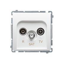 Zásuvka RTV-SAT Simon Basic koncová modul 1dB biela