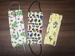 2-vrstvové textilné detské rúško s gumičkou, mix motívov