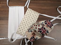 2-vrstvové textilné rúško so šnúrkami, mix farieb