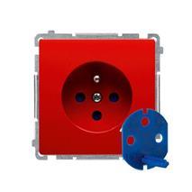 Zásuvka 250 V Simon Basic DATA s kľúčom modul červená