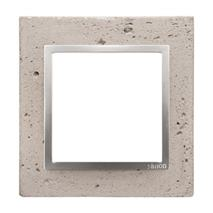 Rámik jednonásobný betónový Simon 54 nature Svetlý betón/striebro