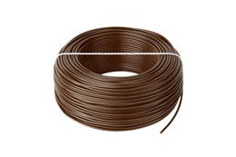 Kábel CYA 1x0,5 hnedý (H05V-K) lanko (100m)