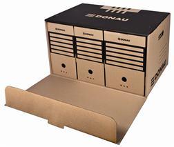 Archívny kontajner, dopredu otvárateľné veko, DONAU, hnedý