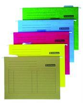 Závesné zakladacie dosky, kartónové, A4, DONAU, žlté, (25 ks/bal)