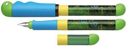 "Plniace pero, telo pera: modré-zelené, SCHNEIDER \""Base Kid1\"", modré"