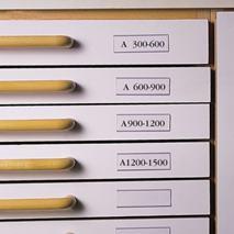 Vrecko na etikety ku zásuvkám, 40x150 mm, 3L
