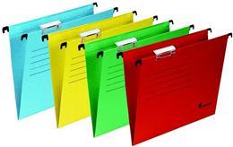 Závesné zakladacie dosky, kartónové, A4, VICTORIA, žlté, (25 ks/bal)