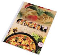 """Obal na jedálny lístok, A4, PANTA PLAST \""""Pizza\"""" , pizza-cestoviny"""