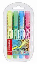 "Zvýrazňovač, sada, 1-4 mm, STABILO \""Swing Cool Be Wild\"", 4 rôzne farby"