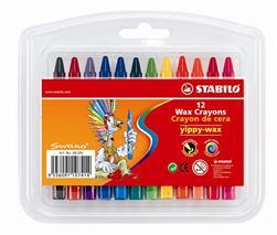 """Voskovky, STABILO \""""Yippy-wax\"""", 12 rôznych farieb"""