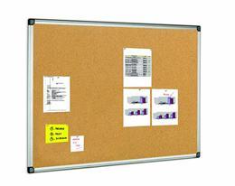Korková tabuľa, 100x150 cm, hliníkový rám, VICTORIA