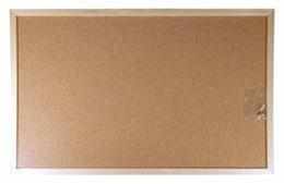 Korková tabuľa, 60x100 cm, drevený rám, VICTORIA