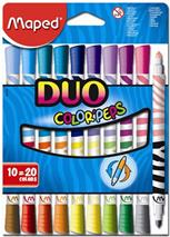 "Fixky, MAPED ""Color`Peps Duo"", 20 rôznych farieb"