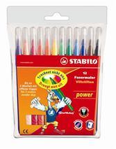 """Fixky, 2 mm, STABILO \""""Power\"""", 12 rôznych farieb"""