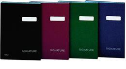 Podpisová kniha, A4, 19 vreciek, kartón, DONAU, tmavomodrá