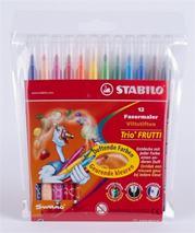 """Fixky, voňavé, STABILO """"Trio Frutti"""", 12 rôznych farieb"""