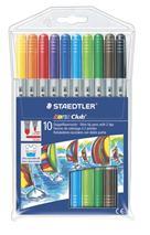 """Fixky, 1-3 mm, 2 hroty, vyprateľné, STAEDTLER \""""Noris Club\"""", 10 rôznych farieb"""
