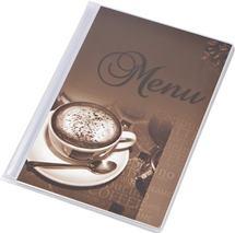 "Obal na jedálny lístok, A5, PANTA PLAST ""Café"" , káva"
