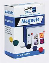 Magnetky, 20mm,/10 ks v rôznych farbách