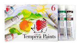 Tempera, ježko, 6 farieb/bal