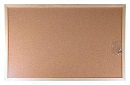 Korková tabuľa, 30x40 cm, dervený rám, VICTORIA