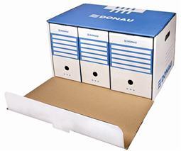 Archívny kontajner, dopredu otvárateľné veko, DONAU, modrý