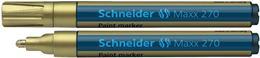 """Lakový popisovač, 1-3 mm, SCHNEIDER """"Maxx 270"""", zlatý"""
