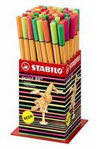 """Liner, displej, 0,4 mm, STABILO \""""Point 88 Mini\"""", mix neónových farieb"""