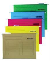 Závesné zakladacie dosky, kartónové, A4, DONAU, oranžové, (25 ks/bal)
