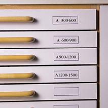 Vrecko na etikety ku zásuvkám 30x150 mm