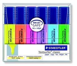 Zvýrazňovač, sada, 1-5 mm, STAEDTLER, 6 rôznych farieb