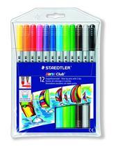 """Fixky, 1-3 mm, s dvomi hrotmi, vyprateľné, STAEDTLER \""""Noris Club\"""", 12 rôznych farieb"""
