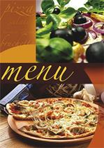 """Obal na jedálny lístok, A4, PANTA PLAST \""""Pizza\"""" , pizza-oliva"""