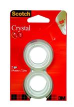 "Lepiaca páska, 19 mm x 7,5 m, 3M SCOTCH ""Crystal"", 2 ks/bal."