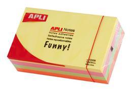 Samolepiaci bloček, pastelové farby, 125x75 mm, 400 listov