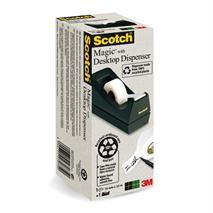 Dispenzor na lepiacu pásku, s lepiacou páskou, z recyklovaného plastu, 3M SCOTCH