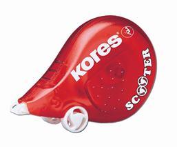 """Korekčný roller, 4,2 mm x 5 m, KORES """"Scooter"""", červený"""