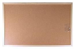 Korková tabuľa, obojstranná, 60x90 cm, drevený rám, VICTORIA