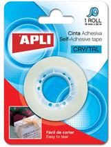 """Lepiaca páska, 19 mm x 33 m, úplne priesvitná, APLI """"Crystal"""