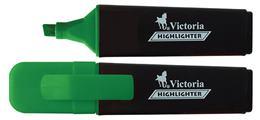 """Zvýrazňovač, 1-5 mm, VICTORIA \""""Color 100\"""", zelený"""