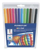"""Fixky, 1 mm, vyprateľné, STAEDTLER \""""Noris Club\"""", 12 rôznych farieb"""