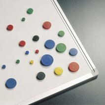 Magnetky, 10mm,/10 ks v rôznych farbách