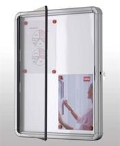 Interiérová sklenená vitrína, magnetická zadná strana, 8xA4