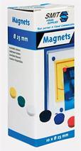 Magnetky, 25mm,/10 ks v rôznych farbách