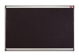 Laminátová pripínacia tabuľa, 120 x 180 cm, rám: hliník-plast, čierna