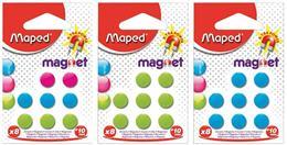 Magnetky, okrúhle, 10 mm, 8 ks/blist,