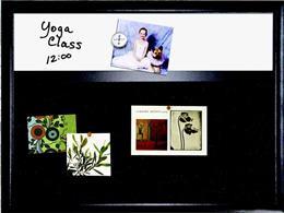 Kombi tabuľa, biela magnetická/čierny filc, 43x58 cm, čierny drevený rám, NOBO