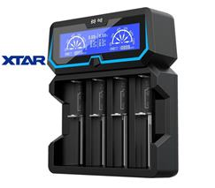 Inteligentá univerzálna rýchlonabíjačka Micro USB/ 230V vstup, záložný zdroj 4 x Li-ion LCD XTAR X4