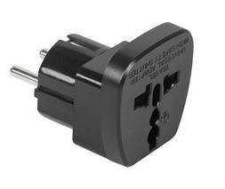 Redukcia 230V SK- univerzálna zásuvka čierna(QZ36-9)